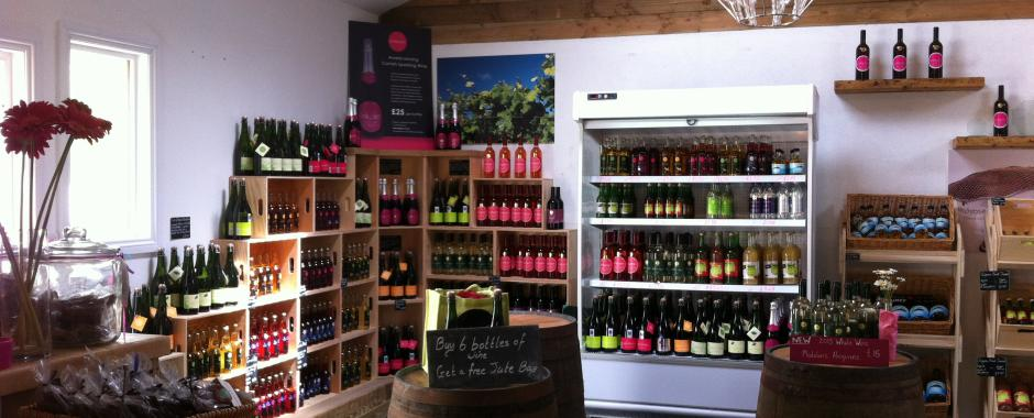 A flowering Cornish vineyard  and a brand new shop