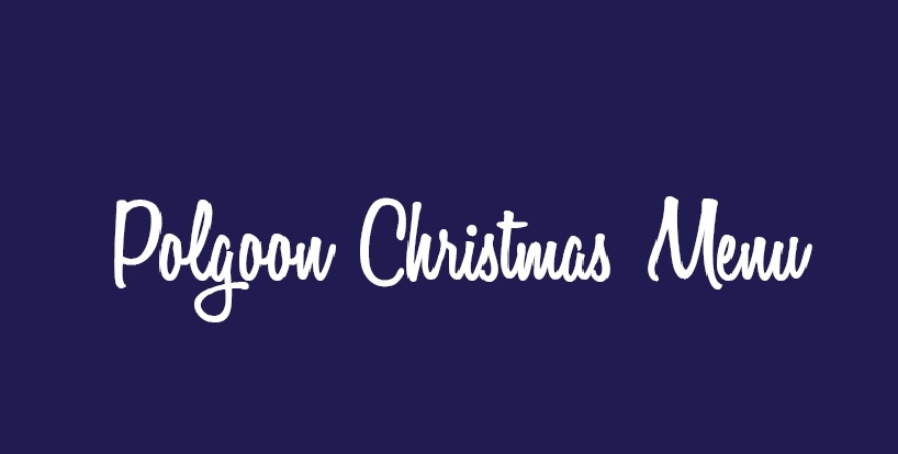 CORNISH CHRISTMAS FOOD & DRINKS MENU