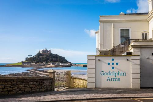 Polgoon Wine at Godolphin Arms in Marazion overlooking St Michael's Mount.